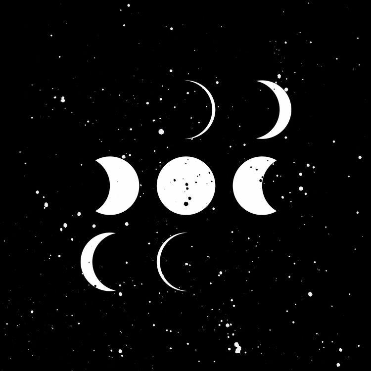 moon - artwork, cosmos, ink, cosmink - llanwafu | ello