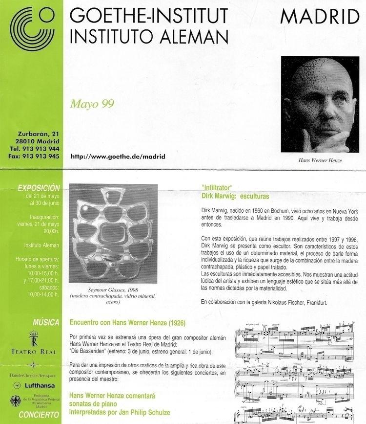 Goethe Institut Madrid, Spain,  - dirkmarwig | ello