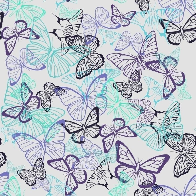 Repeating butterfly pattern pur - fickle_muse | ello
