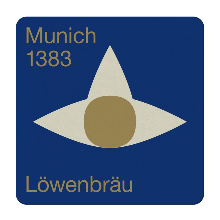 lowenbrau coaster - design, swiss - kdd | ello