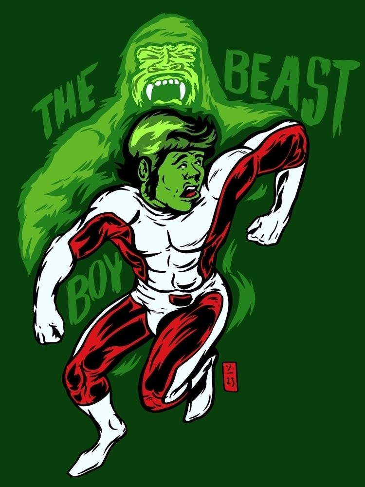 Vintage Beast Boy - thomcat23   ello