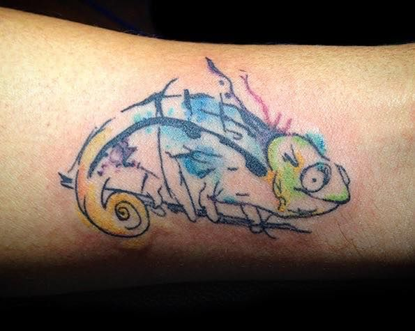 Water color chameleon tat - WaterColor - yankeedoodlezart | ello