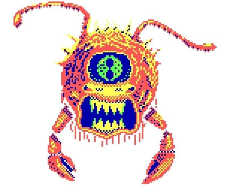 Chunky pixel Eye Deep 4-color C - vampireslug | ello
