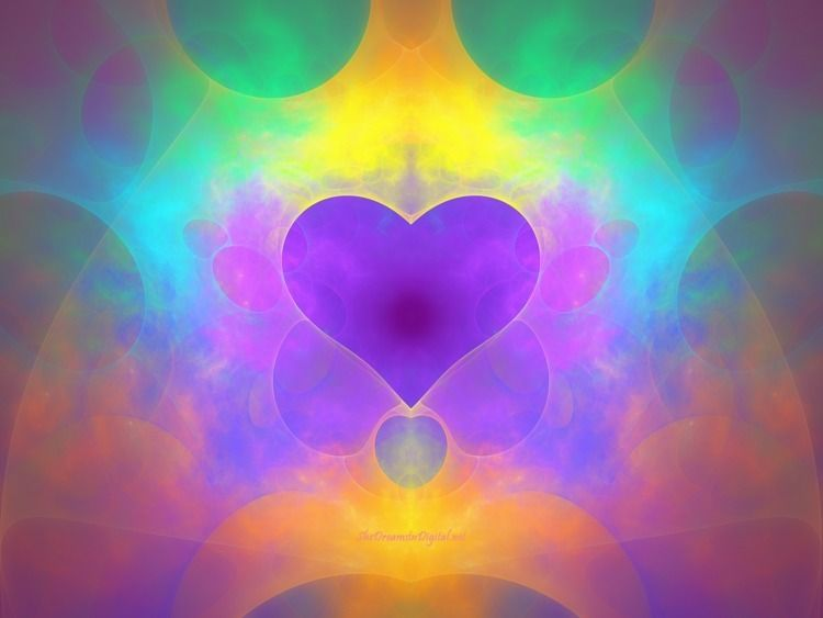 Pastel Rainbow Heart - fractal, sya - sya | ello