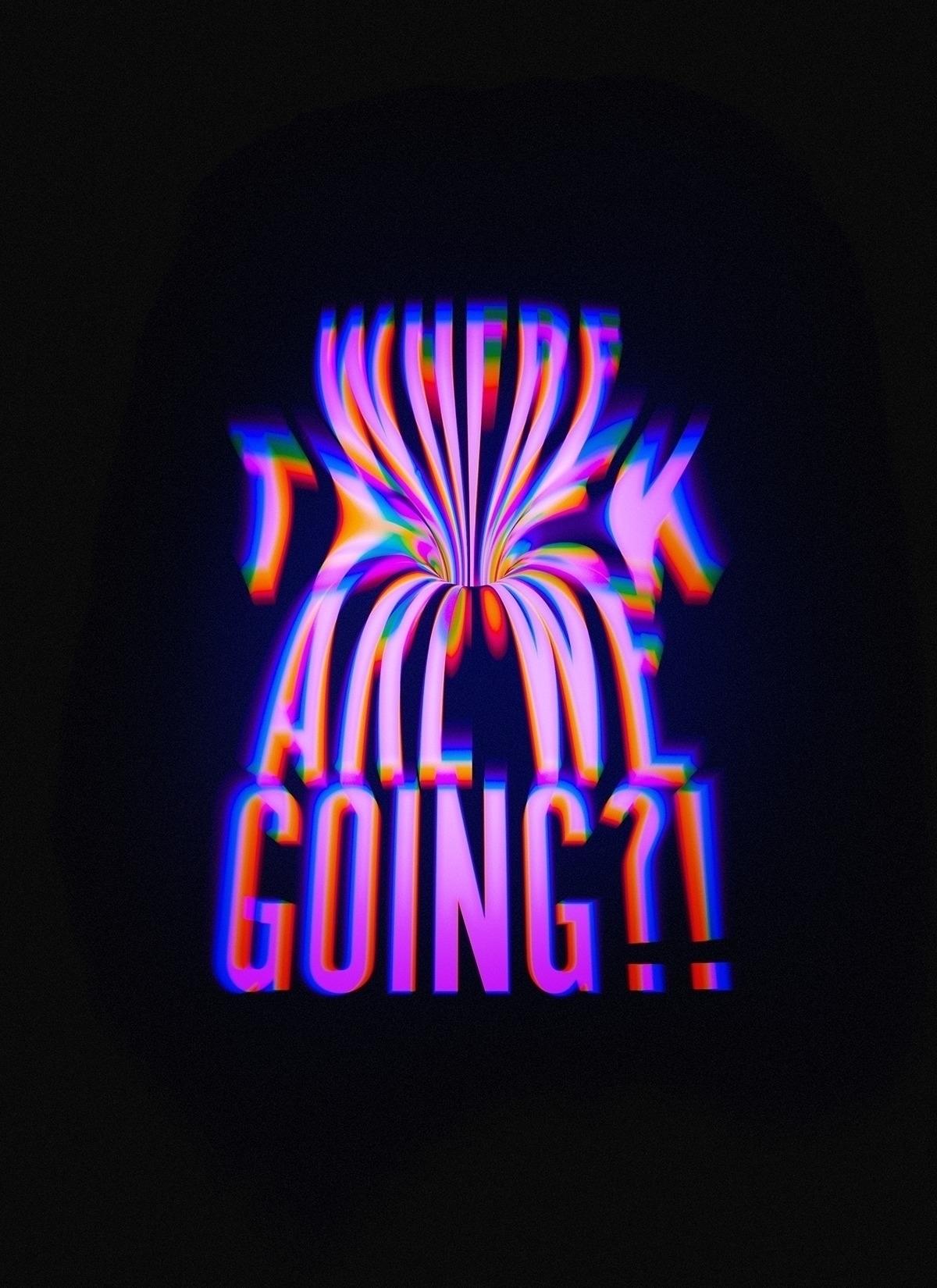 Warp Speed - typography - velvetspectrum | ello