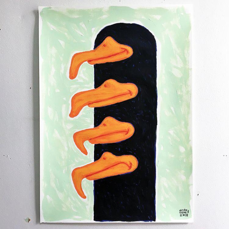 good bad bill - painting, acrylicpainting - andewhallart | ello