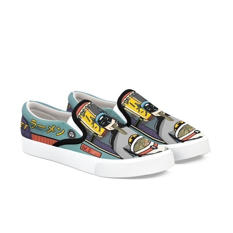 Ramen' custom Bucketfeet shoes - maplekeystudio | ello