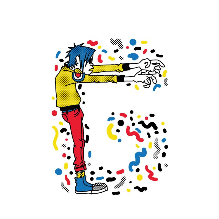 Letter - Gorillaz 2016 - typography - rodzarain   ello