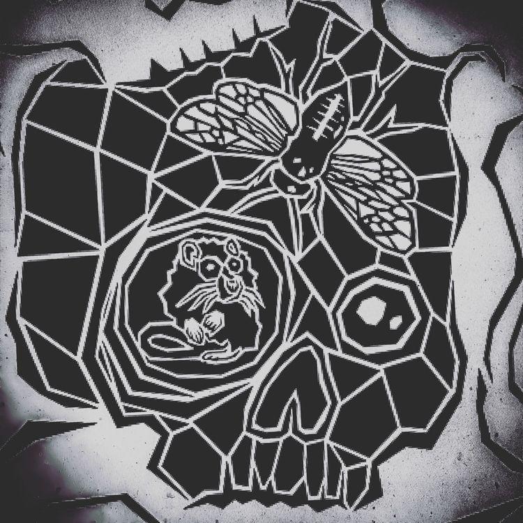 rats, skulls buzzing bone room  - brianabernhard   ello