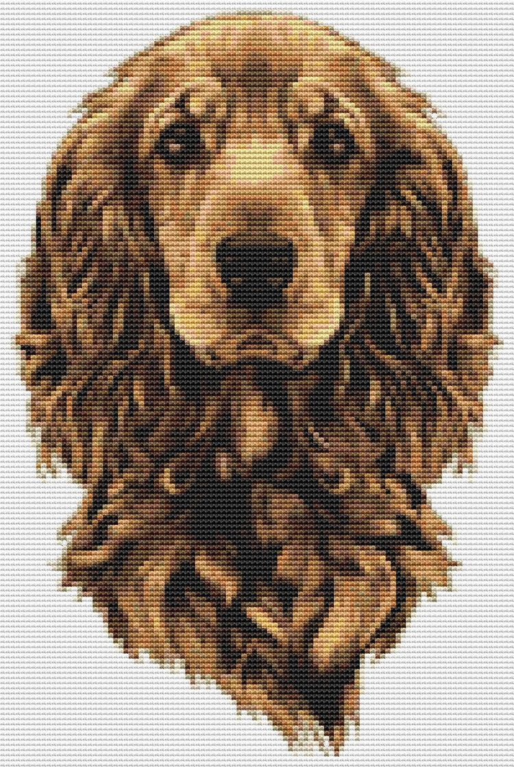 Portrait Dog cross stitch 7 11  - theartofstitch | ello