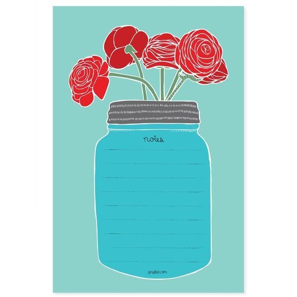 Rose red, notepad blue, 50 line - domestica | ello