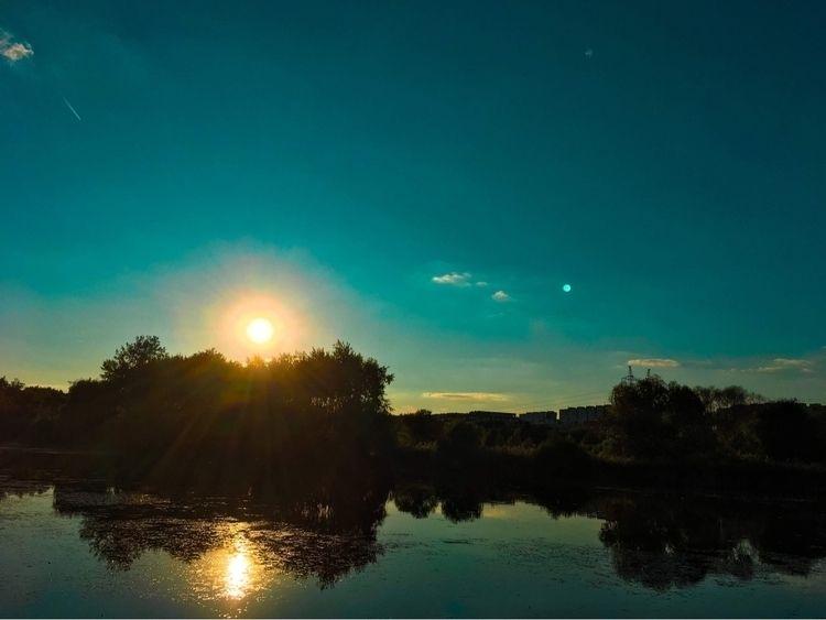 Orange teal style - sunset, colorful - martinkriz | ello