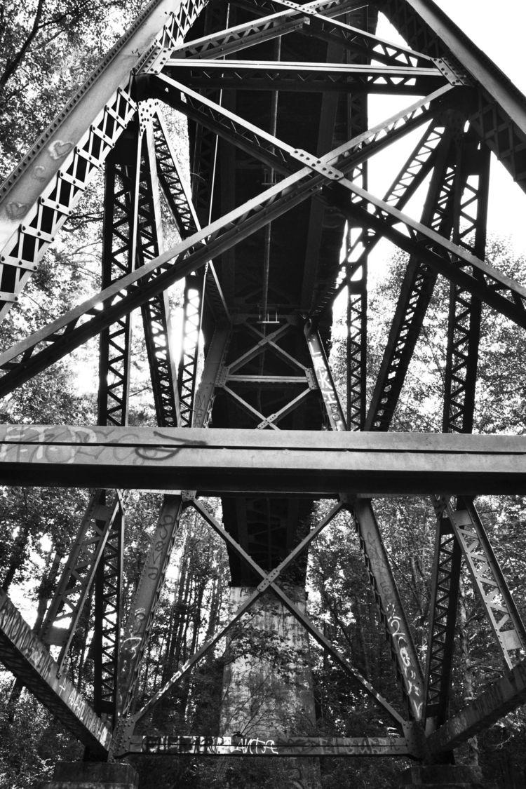 Trestle - sunlight, shadow, bridges - drewsview74 | ello