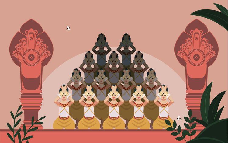 Apsara traditional Khmer lotus  - aureliensoula | ello