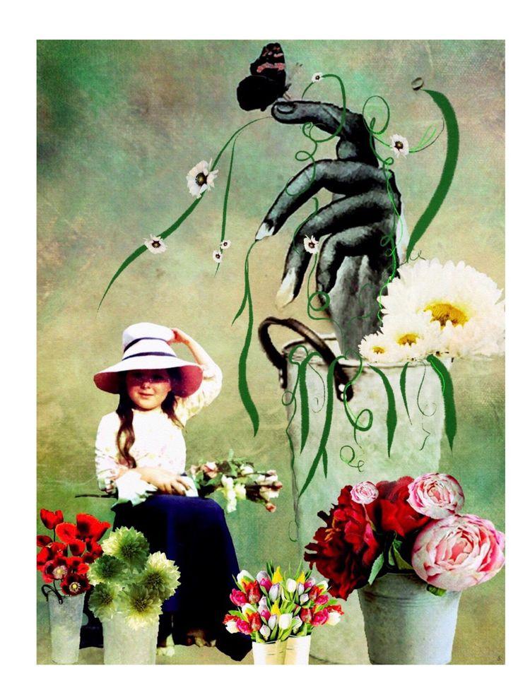 La fille de fleur. Digital Coll - imagetwisters | ello