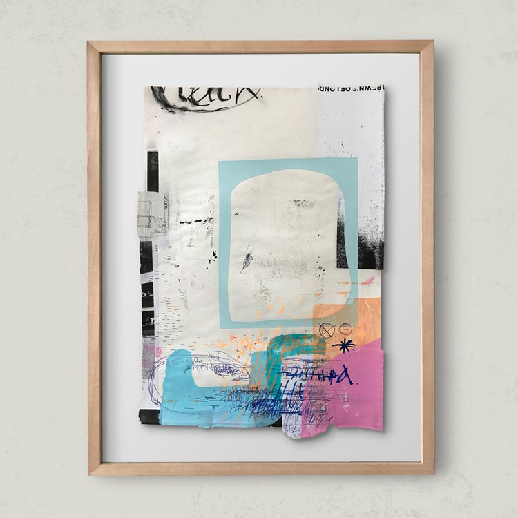 shopping bag / collage ink, acr - atzeanalogue | ello