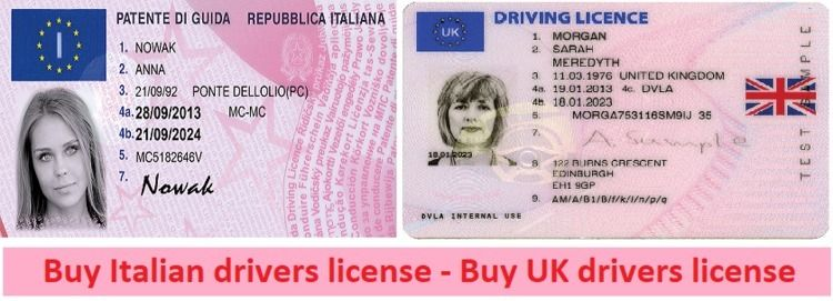 Buy Italian drivers license - U - buyrealfakedoc | ello