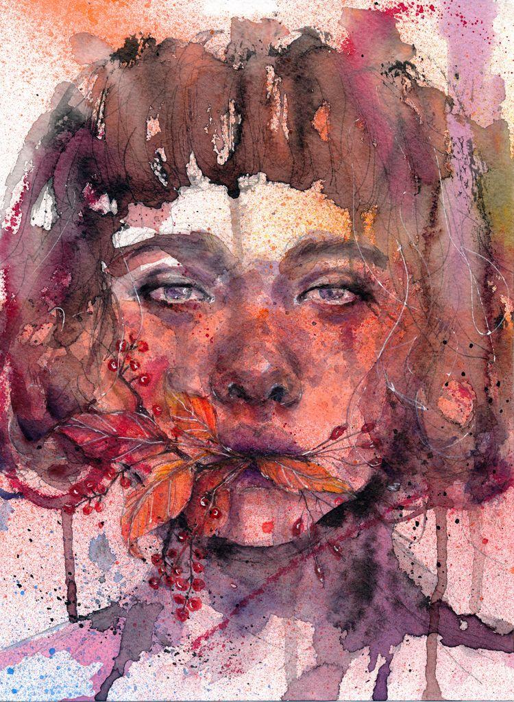 AUTUMN - autumn, inkdrawing, inked - ibreathart | ello