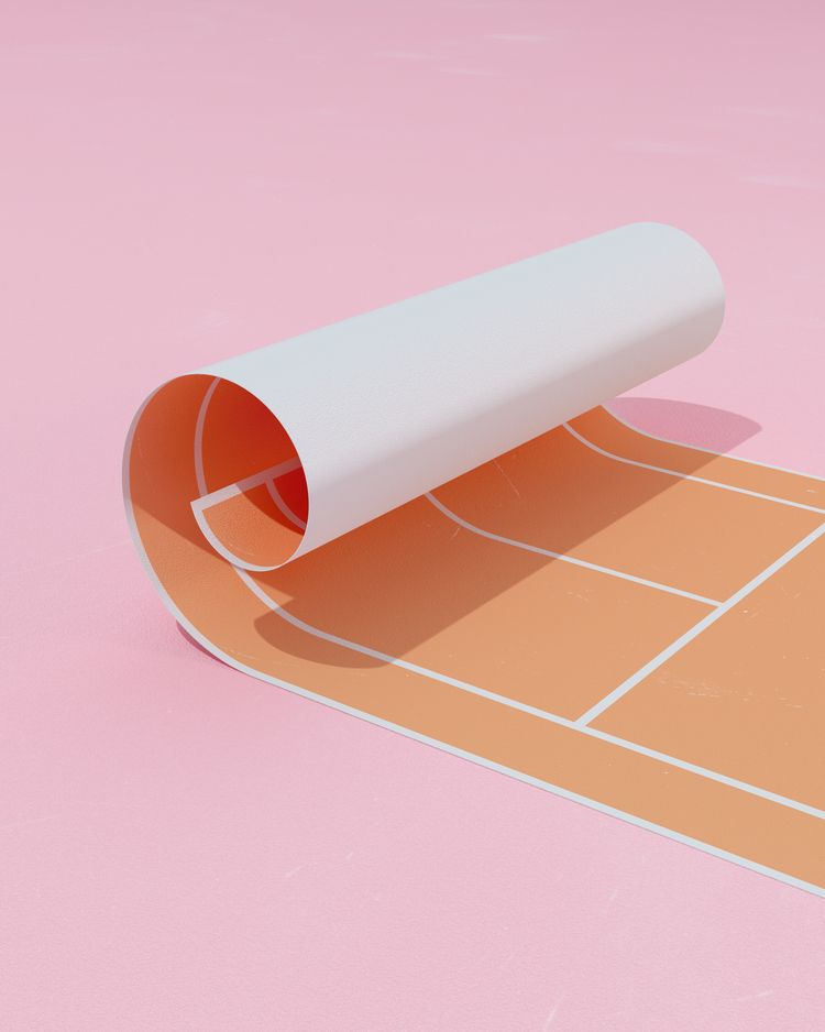 TENNIS raining, fold court - surreal - molistudio | ello