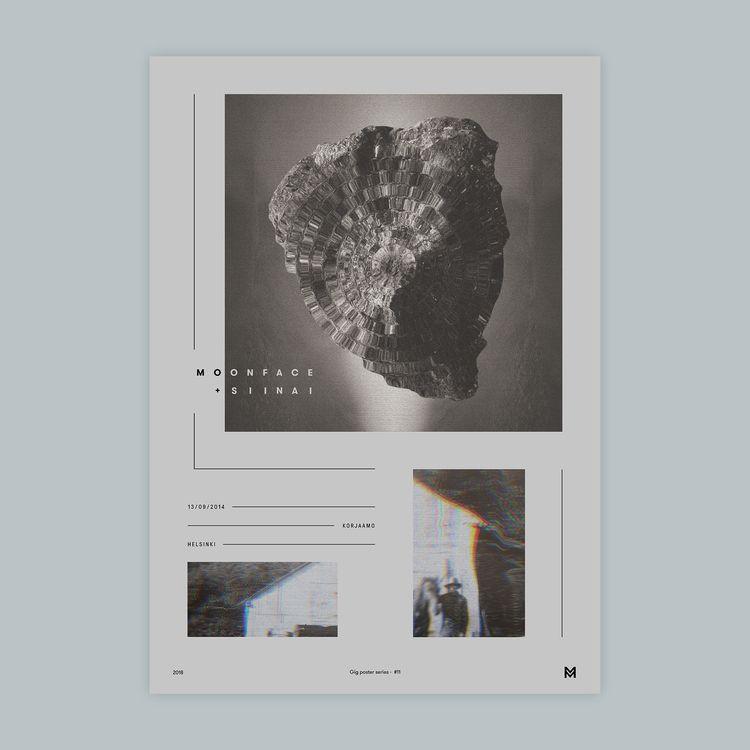 Gig poster project - Moonface + - mcinen | ello