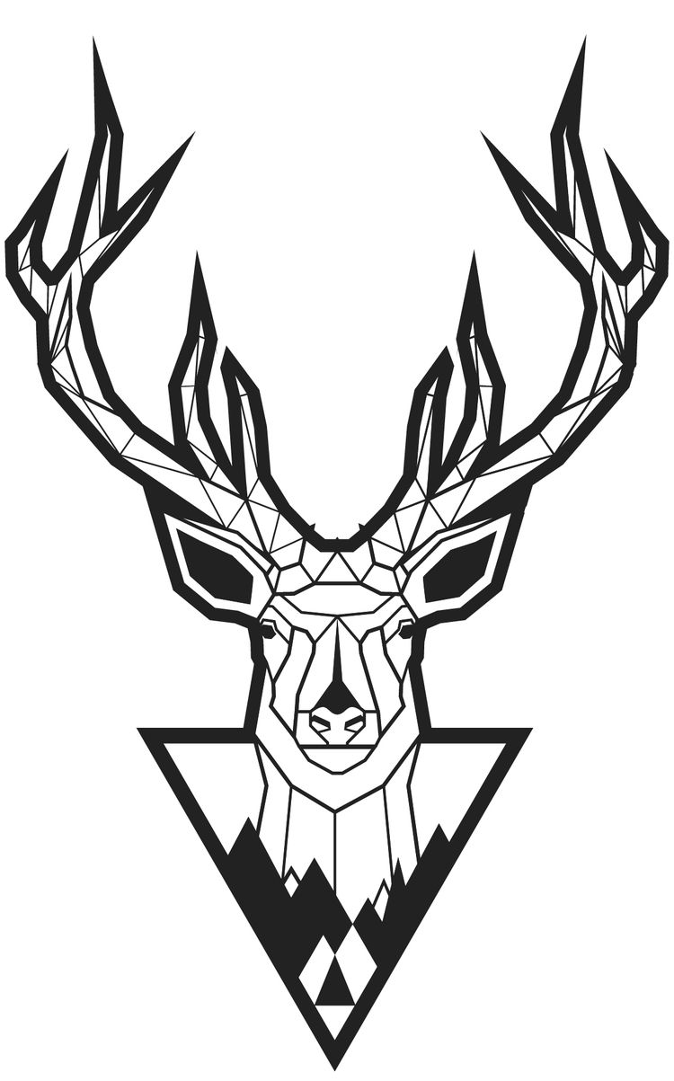 Geometric Deer Illustration, pr - think73 | ello