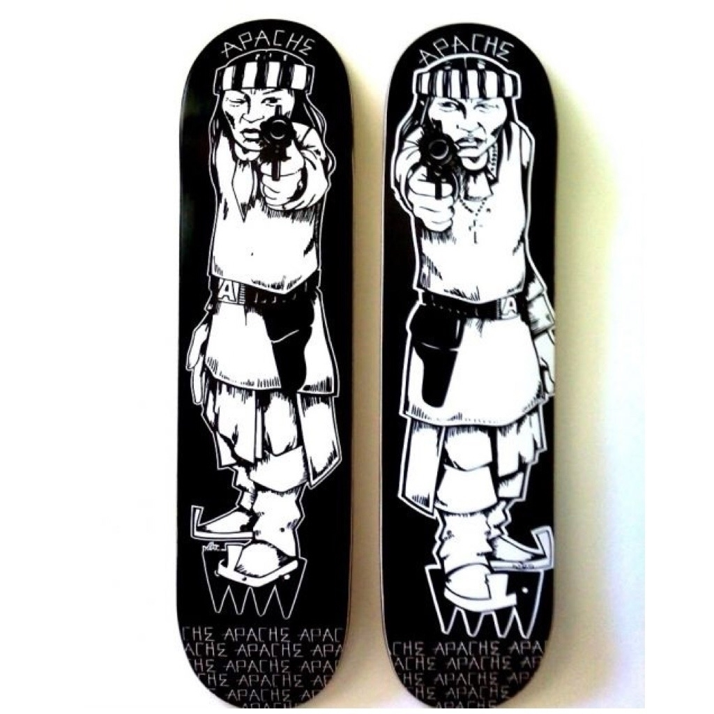 start show hand-painted limited - apacheskateboards | ello