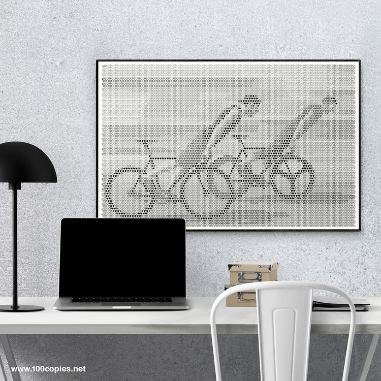Design 40 - Skidding bicycle br - 100copies_bicycle_art | ello