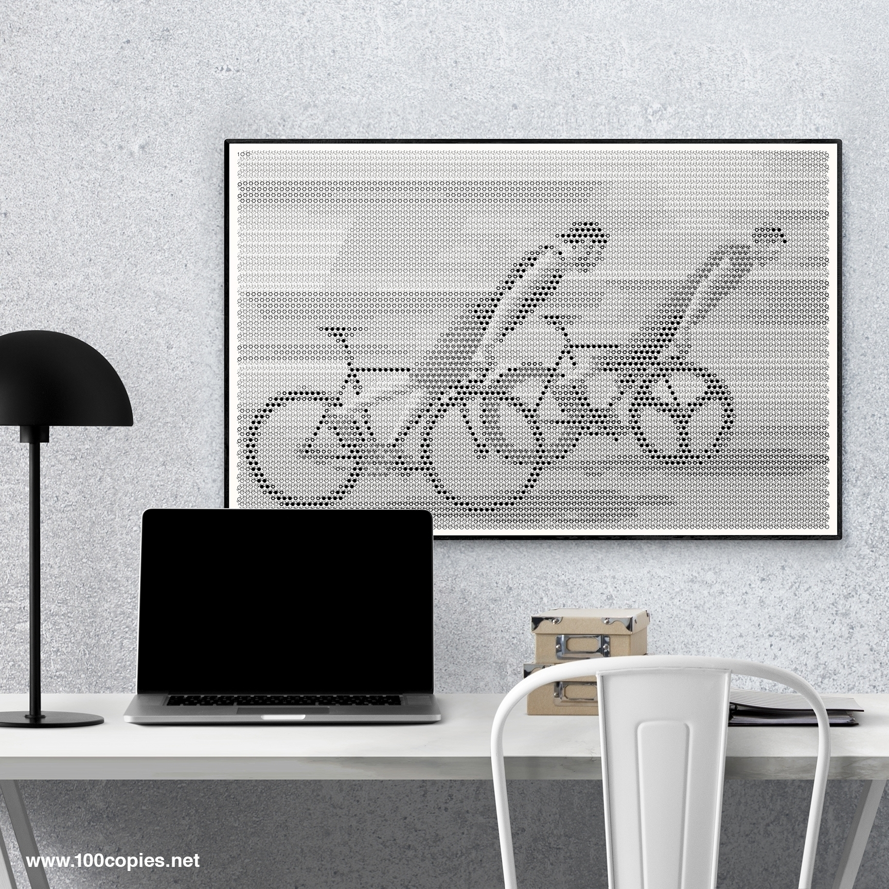 Design 40 - Skidding bicycle br - 100copies_bicycle_art | ello