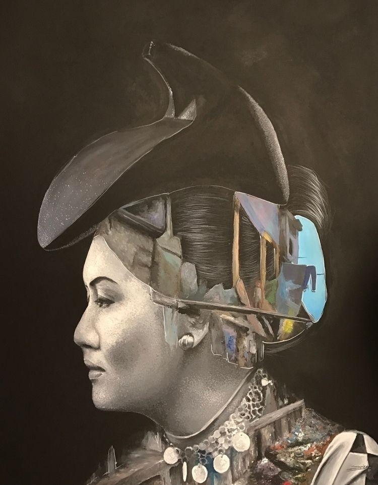 iron lady Acrylic/canvas 150x12 - spika-art | ello