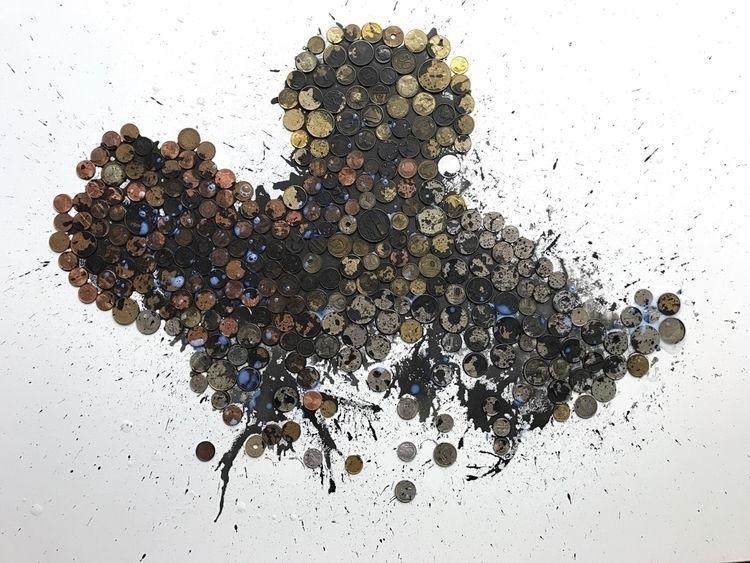 capitalist mouse. Coins/canvas  - spika-art | ello