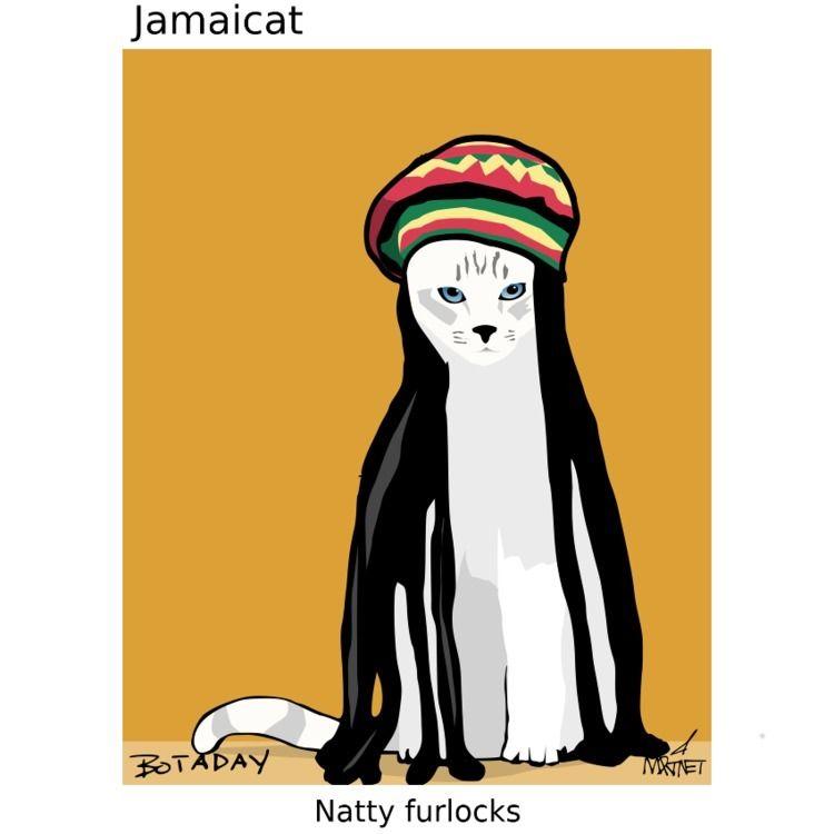Caturday, jamaica, fashion - mmrtnt | ello