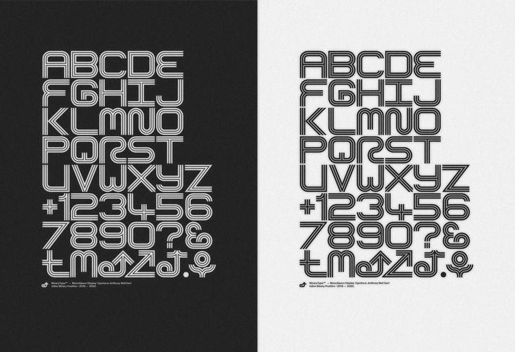 Binary Typeface:tm: - Anthony N - anthonyneildart   ello