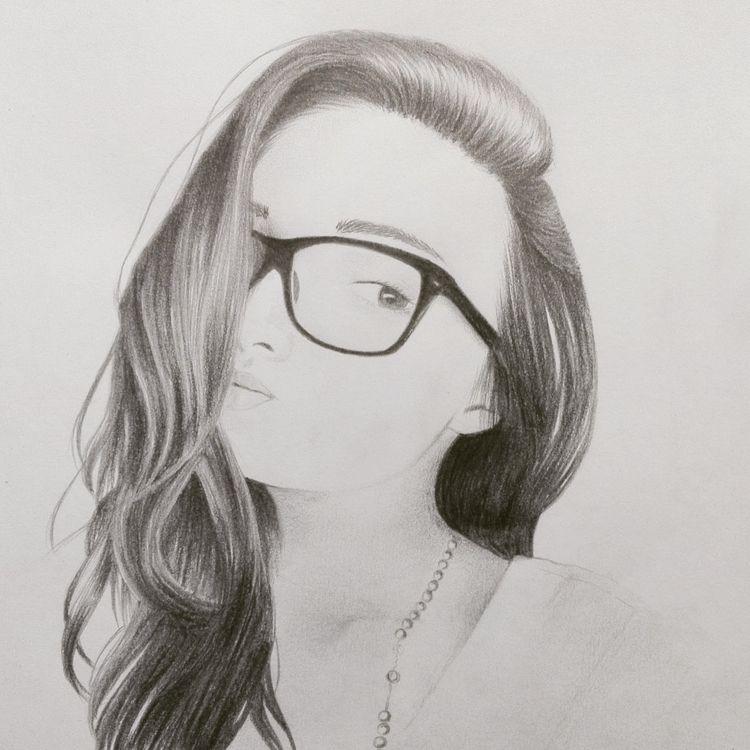 Ana Maria - portrait, retrato, draw - andres_26 | ello