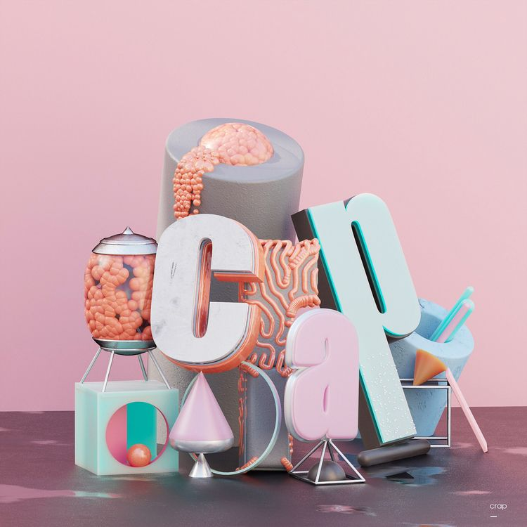 Crap abstract typography - zohaibyounas | ello