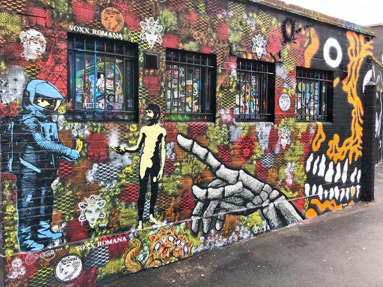 hooking Wall Camden collab  - stencilart - voxxromana | ello