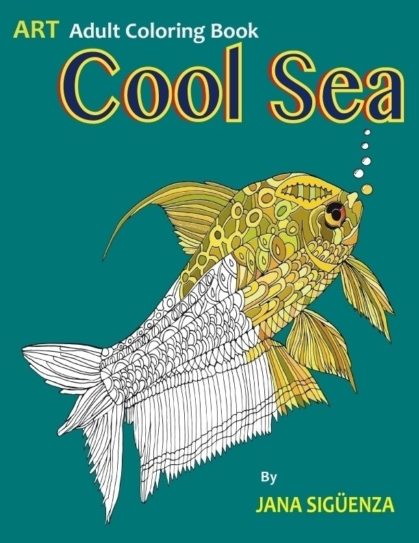 Art Adult Coloring book Cool Se - jana_siguenza | ello