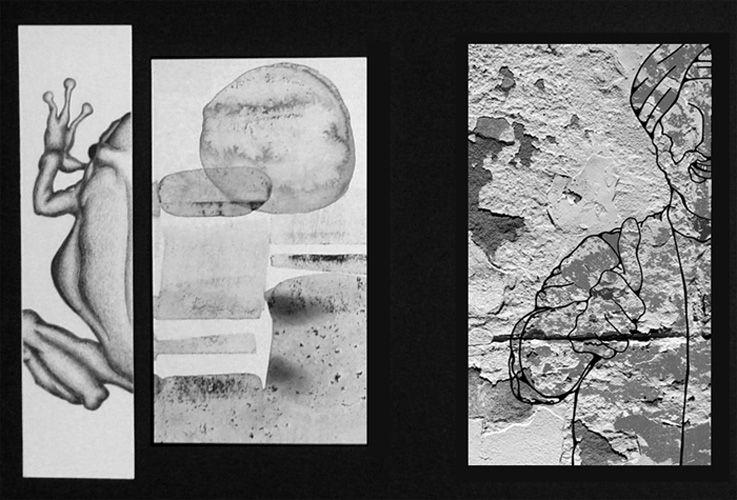 -Lab Slide -graphite, ink-wash  - mattlfoto | ello