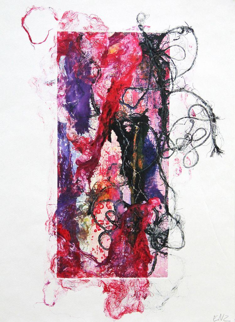 printmaking, art, abstract, monotype - elekz   ello