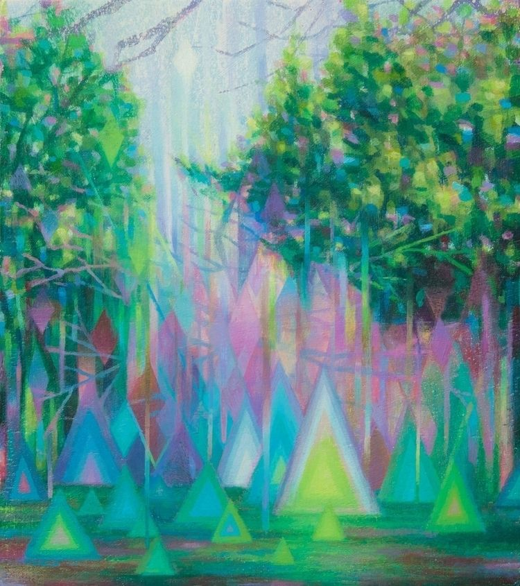 painting Emerald Isles acrylic  - elimcmullen | ello