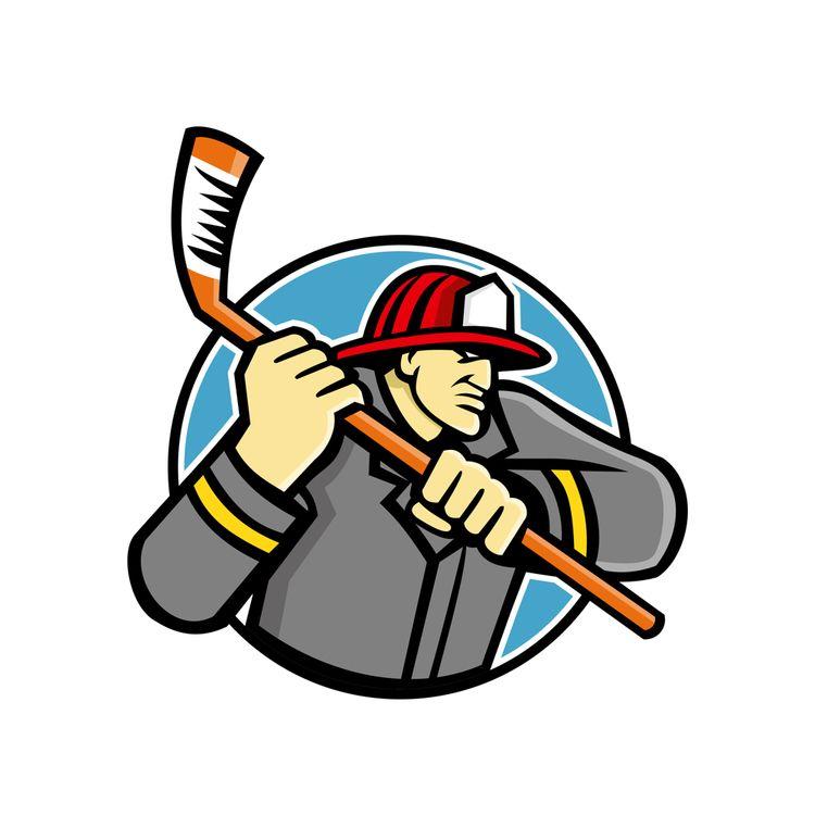 Fireman Ice Hockey Mascot - IceHockey - patrimonio | ello