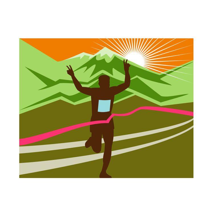Marathon Race Finisher - illustration - patrimonio | ello