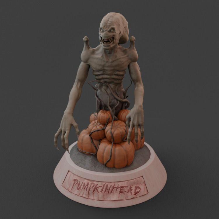 Pumpkinhead maxi-bust sculpt ho - mrpopcornbag | ello