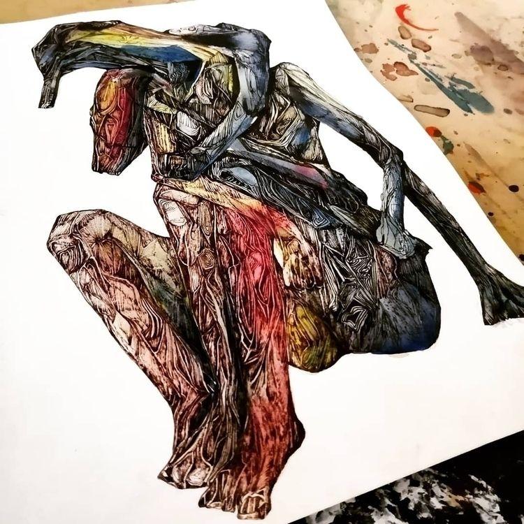 Title: Stranglehold - Inks, fin - jacobbayneartist | ello
