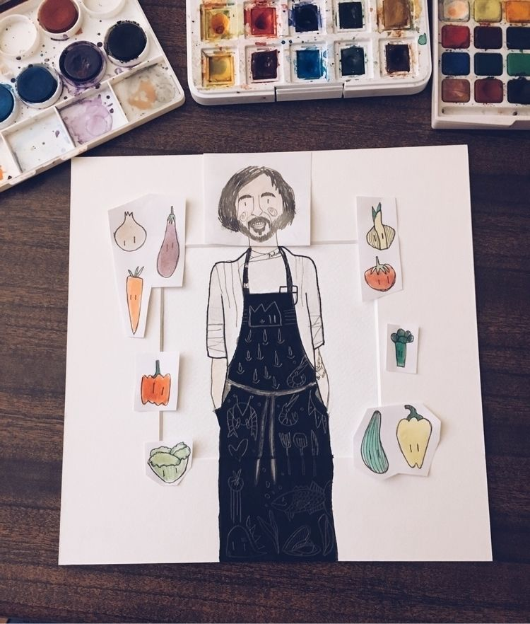 Friend chef - ello, illustration - petitalechatrose | ello