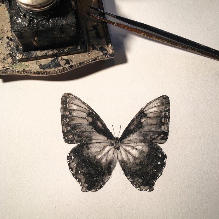 corner - inktober, painting, ink - alexakarabin | ello