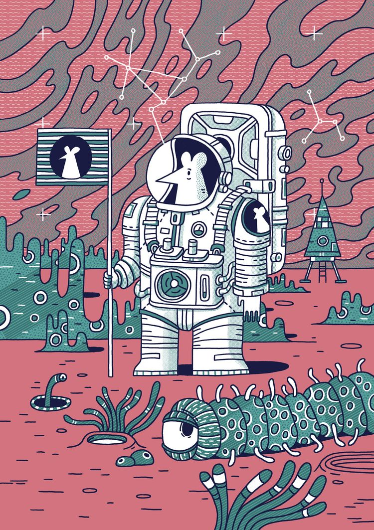 Mice Astronauts II - illustration - danielspacek | ello
