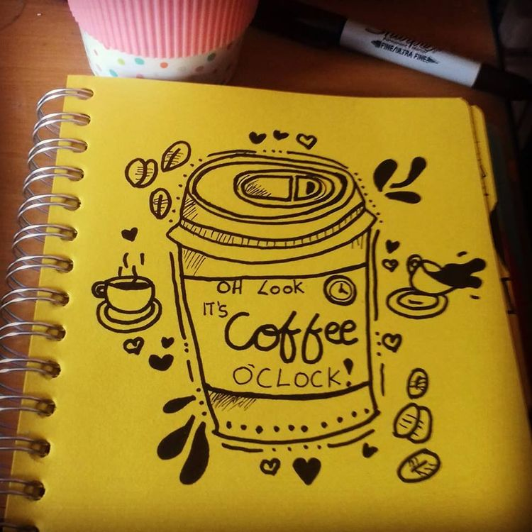 coffee ♡ - drawing, ellodrawing - ruthohaganartist   ello