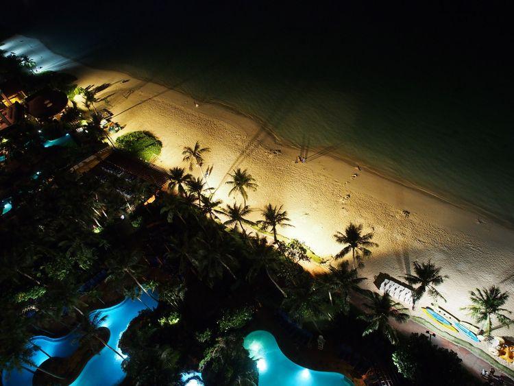guam, beach, night, shadow, palmtree - marmeid | ello