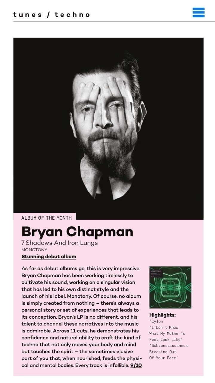 techno album month.......speech - bryanchapman | ello