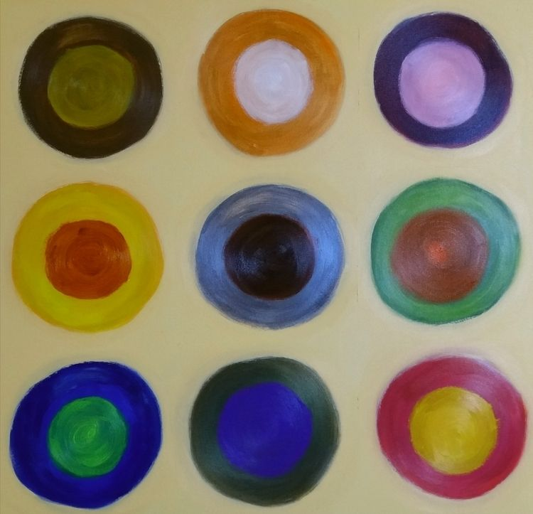 MISSHAPEN CIRCLES Acrylic canva - tmarcoantonio | ello